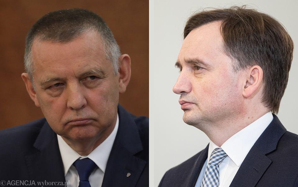 Prezes NIK Marian Banaś, minister sprawiedliwości Zbigniew Ziobro