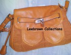 Orange Shoulder bag with chain strap