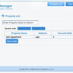 Estate Management System Proposal