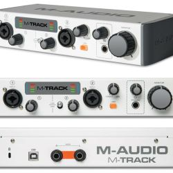 M-audio-M-TRACK-II-Two-Channel-USB-Audio-Interface-2-in-2-out-external-sound