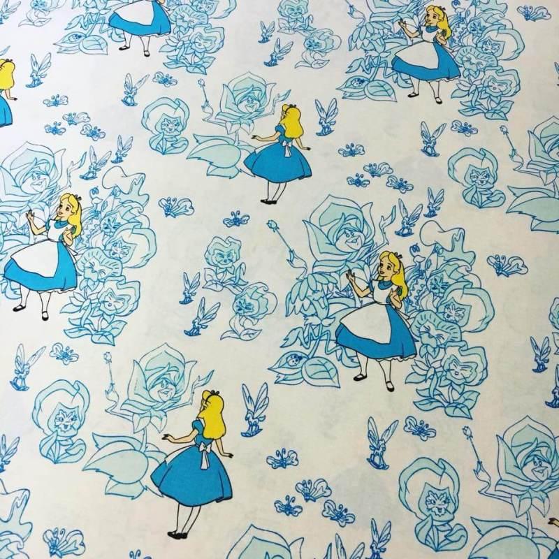 Large Of Alice In Wonderland Fabric