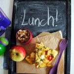 What's in your lunchbox? Pumpkin and feta tortilla!