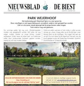 Nieuwsblad de Biest november 2016