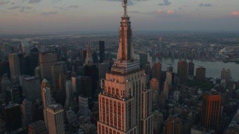 from JasonHawkes PLUS 2 weeks ago Aerial footage over Midtown, Manhattan, New York.