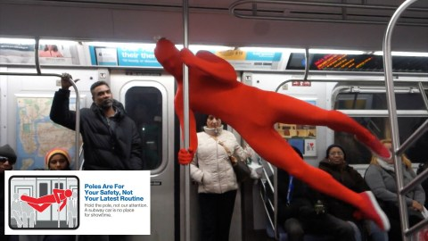 "New Yorkers wearing skin-tight red and green bodysuits teach the do's and dont's of riding the subway. This funny subway video was inspired by the MTA campaign entitled: ""Courtesy Counts, Manners Make a Better Ride"") will urge customers to please: ""Step Aside to Let Others Off First"" ""Keep Your Stuff […]"