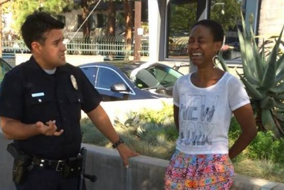 Black Actress Complains After Getting Arrested By Police For Kissing White Man, Mistaken For Prostitute