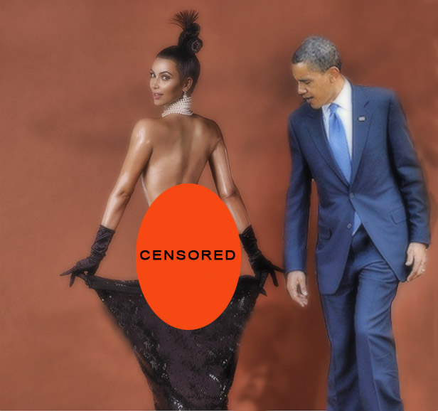 Barack Obama Caught At Kim Kardashian Break The Internet Photoshoot