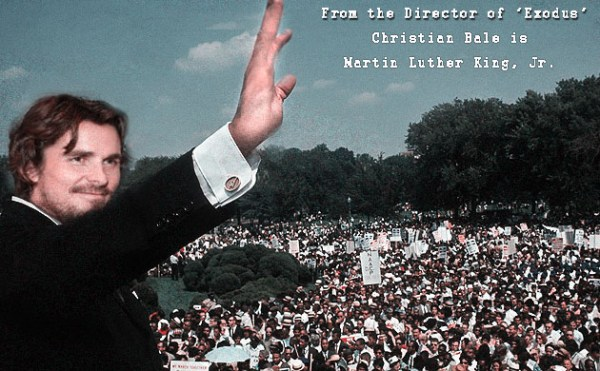 christian bale playing martin luther king jr