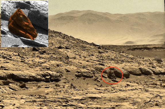 A Dragon Skull on Mars?