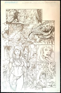 Frank Cho's Jungle Girl v2 #2 – Page 4 – Original Art by Adriano Batista!