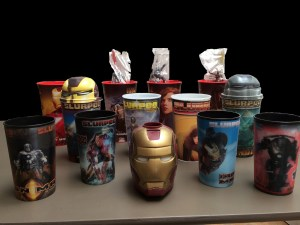 Iron Man 1 and 2 Movie Cups (13 cups, 2 toppers and 3 straws)