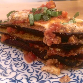 Three Cheese Eggplant Parmesan