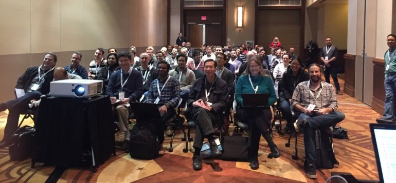 Holden Karau's audience at High Performance Spark preso at Data Day Texas