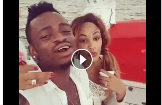 Diamond platnumz sings aziz azion s love song for zari on boat video