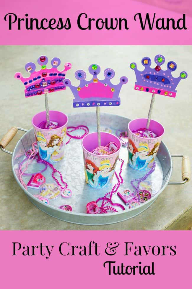 Disney princess crown wand party craft and favor tutorial for Princess wand craft kit
