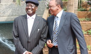 UHuru and Raila Odinga