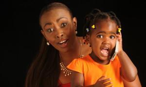 Caroline Mutoko with her daughter