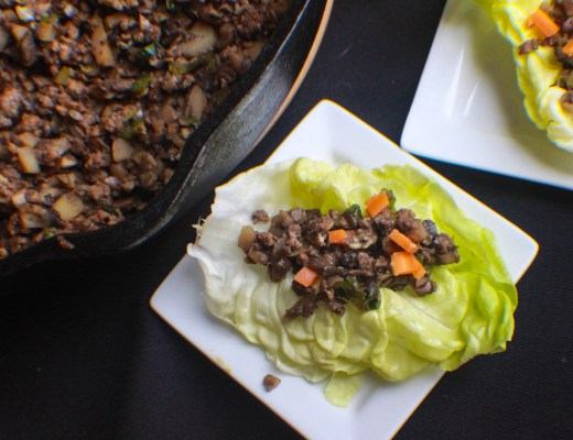 Eas at-home lettuce wraps.