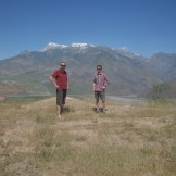 Jim the Frenchman and myself with Afghanistan in the background