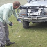 The winch and the Aga Khan truck save the day