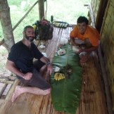 Lunchtime on the Namtha River with Stu and Si (Luang Namtha, Laos)