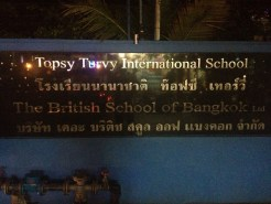 I wonder what they teach at Topsy Turvy Interntational School (Bangkok, Thailand)