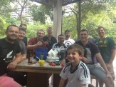 Watching the rugby with the lads at Boomarang (Singapore)