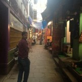 Rohit leads the alley tour (Varanasi, India)