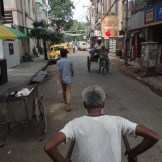 Traveling by Manual Rickshaw Driver (Kolkata, India)