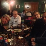 Birthday dinner with Farzad, Mansoor, Aryan, and Shahram (Tehran, Iran)