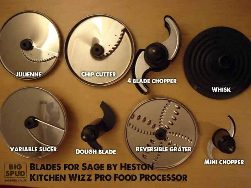 kitchen wizz pro food processor blades