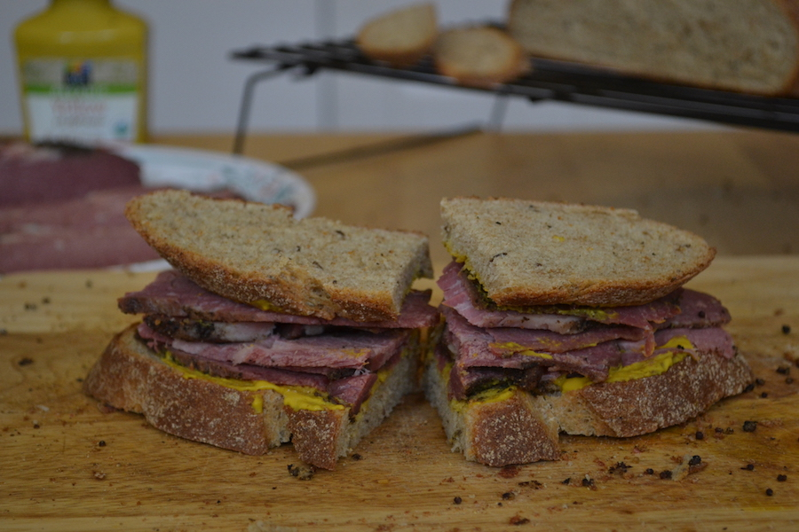 Homemade Pastrami Sandwich