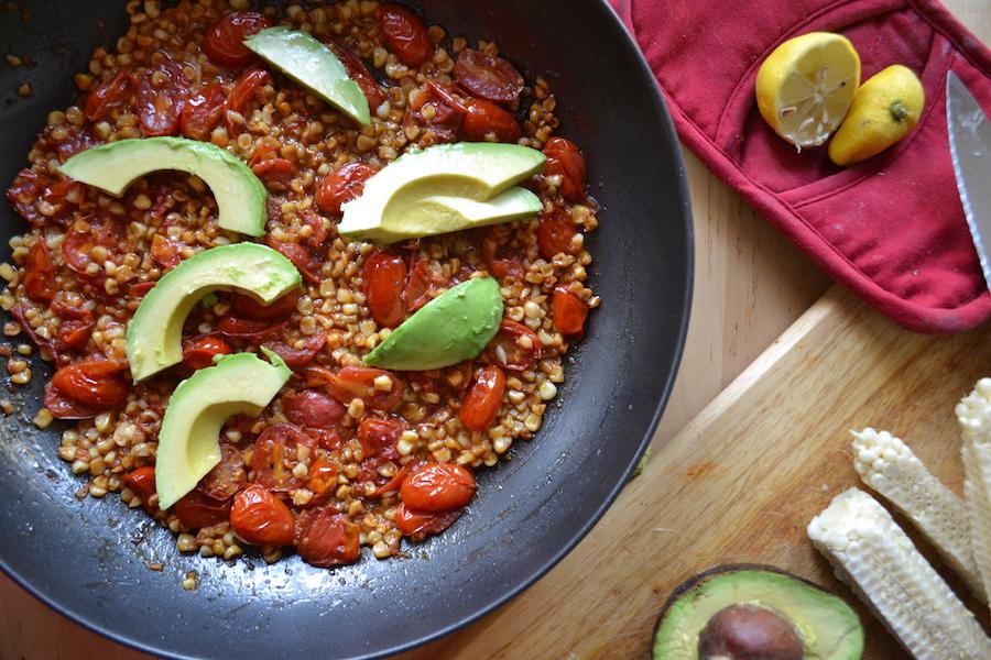 Tomato and Corn Hash