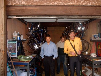 PG Councilmember Will Campos given a tour of the Bike Coop