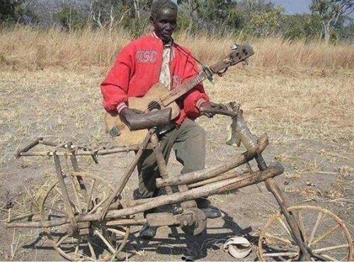 Hard Core Wooden Bike