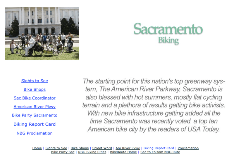Sacramento  Joins SF to DC NBG Biking City Line-up!