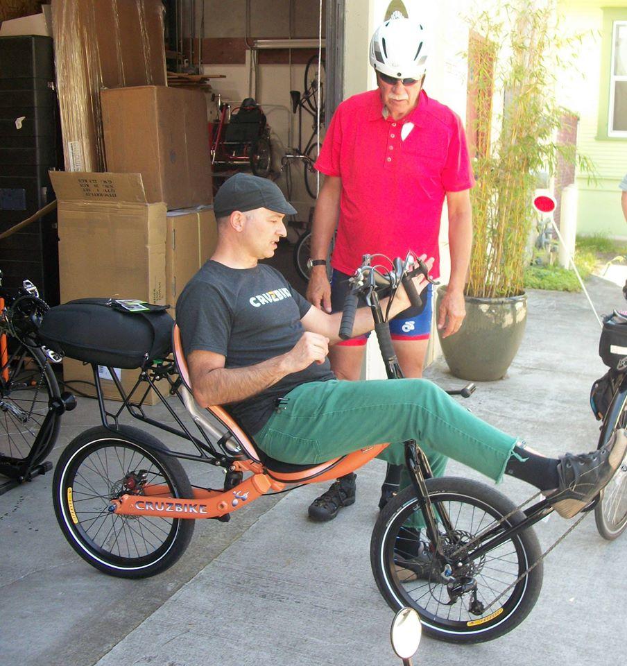 Jonathan on a Cruzbike