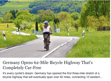 Germany Launches its First Bicycle Highway