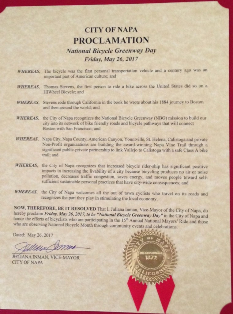 Napa 2017 NBG Day Proclamation