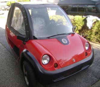 A contemporary CycleCar electric vehicle.