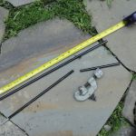 "5. Next make the hoop poles. All you have to do for this step is cut four of the 18"" poles to 12"" (or a different length depending on your expected passenger size). The video below shows how to use a pipe cutter."