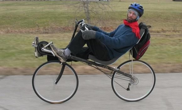 kurt on his homemade high-racer