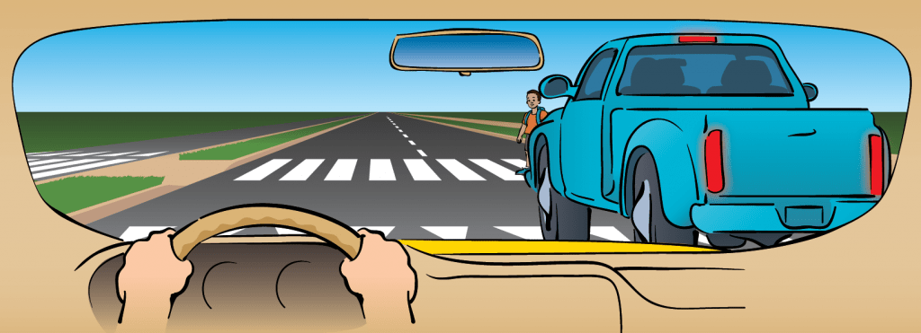 drivers MUST stop whenever there's a stopped vehicle at a crosswalk (marked or UNMARKED!)