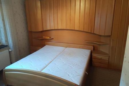 schlafzimmer mit bettuberbau, Hause deko