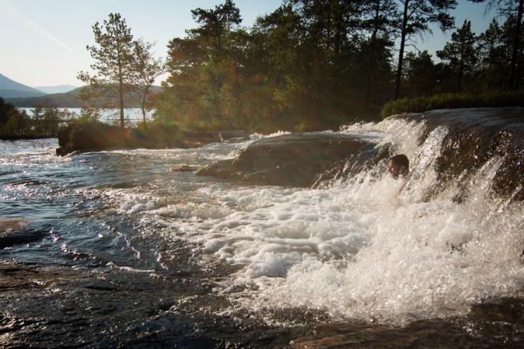 Wasserfalldusche