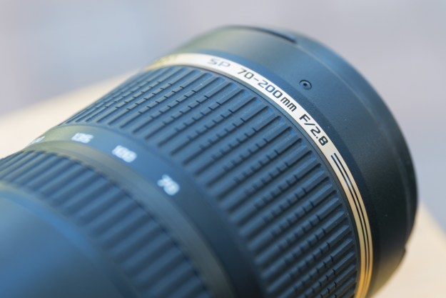 The Tamron 70-200 f/2.8 Di VC USD zoom lens has a focal ratio of f/2.8. This defines the largest aperture the lens is capable of having at all focal lengths throughout the zoom range. Operating at f/2.8, the focal length selected will be 2.8X the size of the aperture. While the focal length range is 70-200mm, the range of largest apertures is 25mm at a 70mm focal length to 71mm at 200mm focal length.