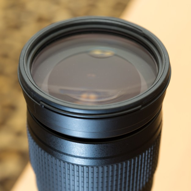 The rubberized seal around the front of the Nikon 200-500mm f/5.6E ED VR provides both protection for the front lens element and a measure of weather sealing from the elements. (Bill Ferris)