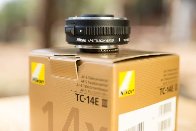 The Nikon TC-14E III teleconverter increases a lens' effective focal length by 40 percent. (Bill Ferris)