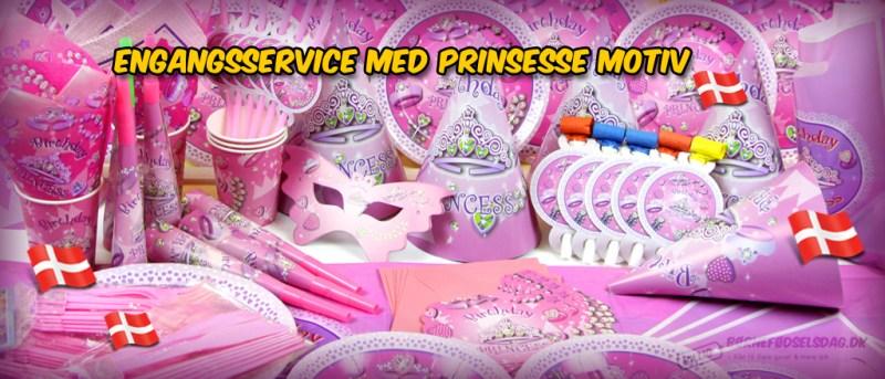 Engangsservice med Prinsesse motiv fra billig børnefødselsdag