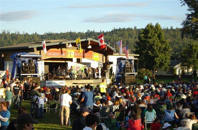 Crowd Enjoying the Stage Entertainment